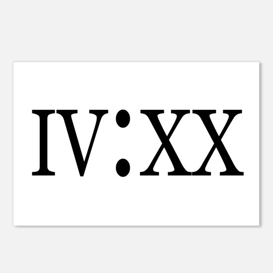 4:20 Roman Numerals Postcards (Package of 8)