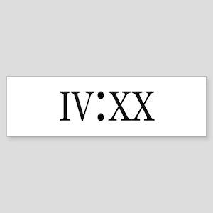 4:20 Roman Numerals Bumper Sticker
