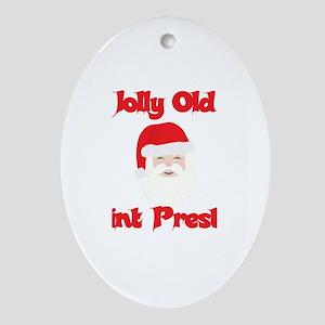 Jolly Old Saint Preston Oval Ornament