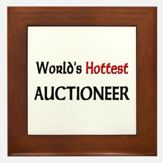 World's Hottest Auctioneer Framed Tile