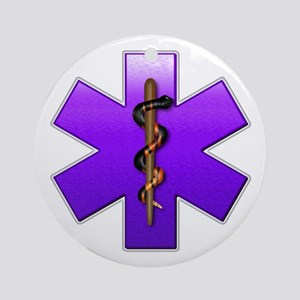 Star of Life(Violet) Ornament (Round)
