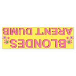 Blondes Aren't Dumb Retro Yellow Bumper Stickers50