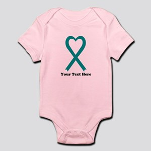 Personalized Teal Awareness R Baby Light Bodysuit