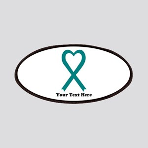 Personalized Teal Awareness Ribbon Patch