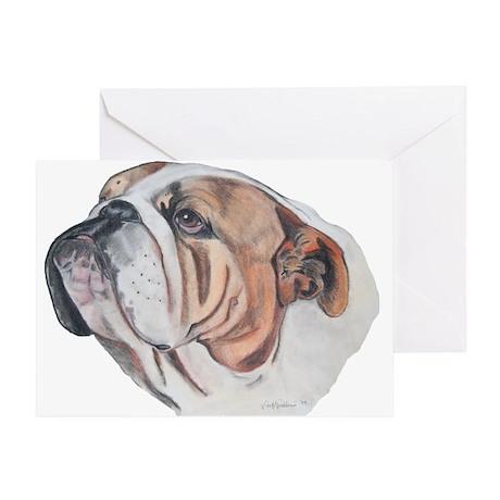 Bulldog Portrait Greeting Card