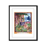 Saving for Winter Framed Panel Print