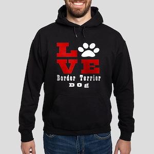Love Border Terrier Dog Designs Hoodie (dark)