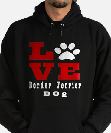 Love Border Terrier Dog Designs Hoodie (dark)