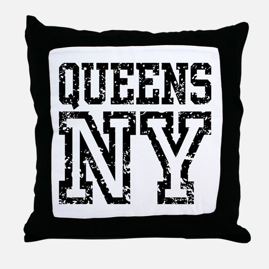 Queens NY Throw Pillow