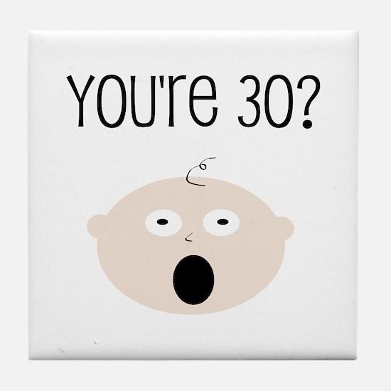 30th Birthday Surprise Tile Coaster