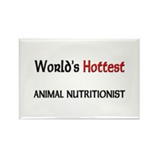 World's Hottest Animal Nutritionist Rectangle Magn