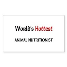 World's Hottest Animal Nutritionist Sticker (Recta