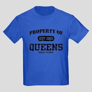 Property of Queens Kids Dark T-Shirt
