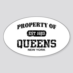 Property of Queens Oval Sticker