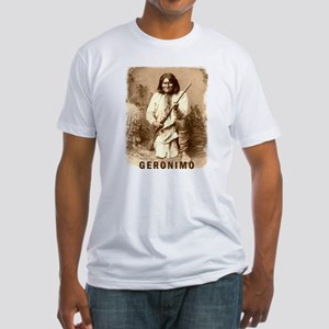 Geronimo Native American Apache Fitted T-Shirt