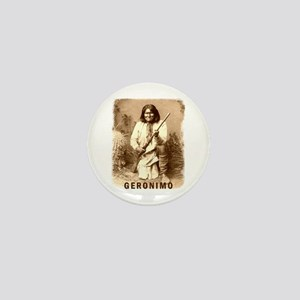 Geronimo Native American Apache Mini Button