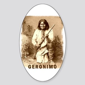 Geronimo Native American Apache Oval Sticker