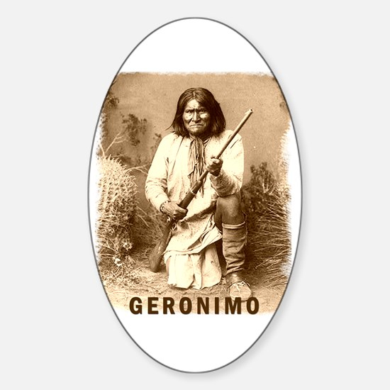 Geronimo Native American Apache Oval Decal
