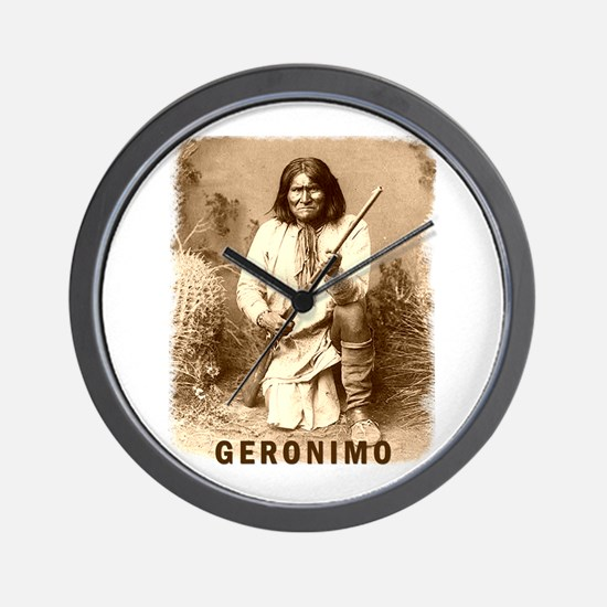 Geronimo Native American Apache Wall Clock