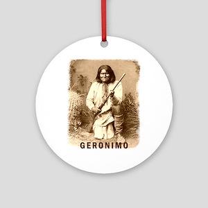 Geronimo Native American Apache Ornament (Round)