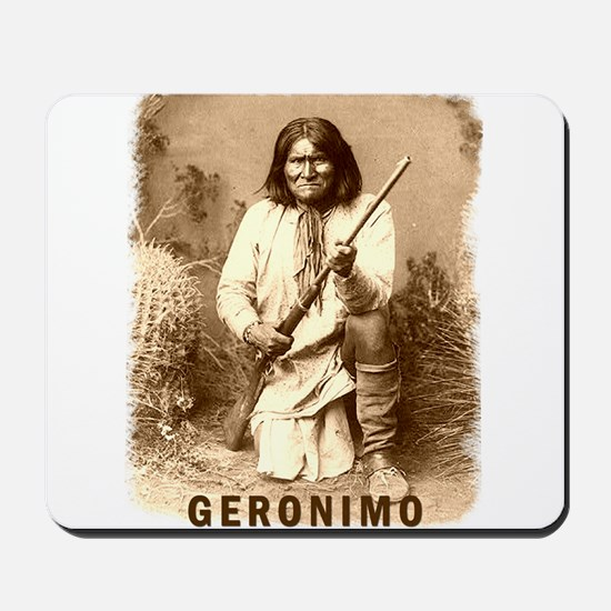 Geronimo Native American Apache Mousepad