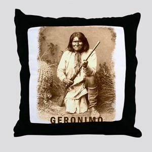 Geronimo Native American Apache Throw Pillow