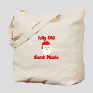 Jolly Old Saint Nicole Tote Bag