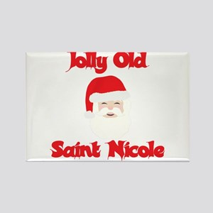 Jolly Old Saint Nicole Rectangle Magnet