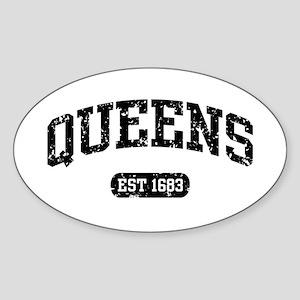Queens Est 1683 Oval Sticker