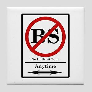 No BS Anytime Tile Coaster