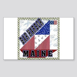 Bar Harbor Maine Rectangle Sticker