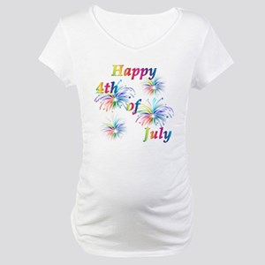 Happy 4th of July Maternity T-Shirt