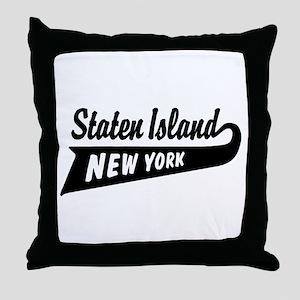 Staten Island New York Throw Pillow