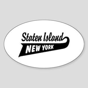 Staten Island New York Oval Sticker