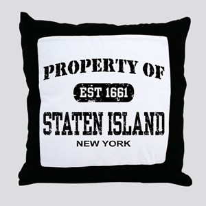Property of Staten Island Throw Pillow