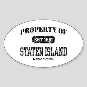 Property of Staten Island Oval Sticker