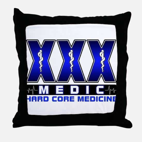 Hard Core Medic Throw Pillow