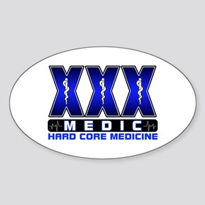 Hard Core Medic Oval Sticker
