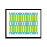 Ionic Art 02 Framed Panel Print