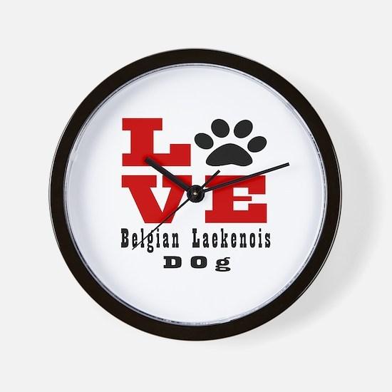 Love Belgian Leakenois Dog Designs Wall Clock