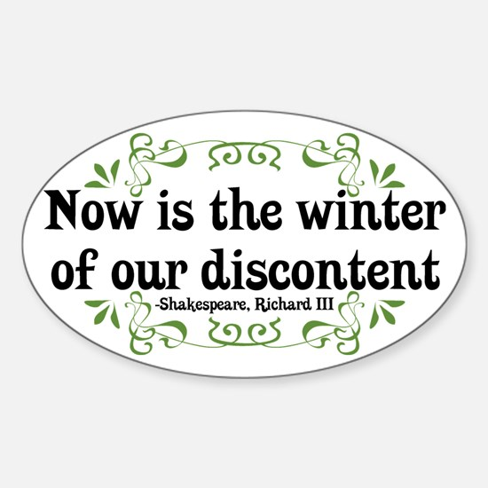 Winter of Discontent Oval Decal