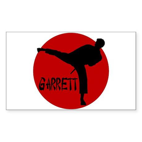 Garrett Martial Arts Rectangle Sticker