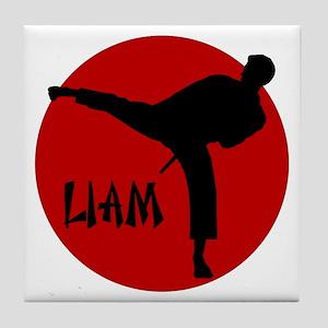 Liam Martial Arts Tile Coaster