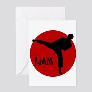 Mixed martial arts greeting cards cafepress liam martial arts greeting card m4hsunfo