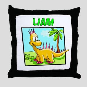 Liam Dinosaur Throw Pillow