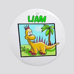 Liam Dinosaur Ornament (Round)