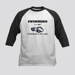 Swimming is a Sport Kids Baseball Jersey