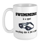 Swimming is a Sport Large Mug
