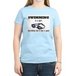 Swimming is a Sport Women's Pink T-Shirt