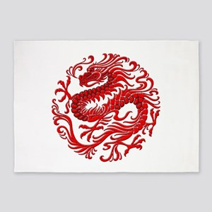 Chinese Dragon Year Of The Dog2 5'x7'Area Rug